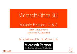 Q&A - Security in Office 365