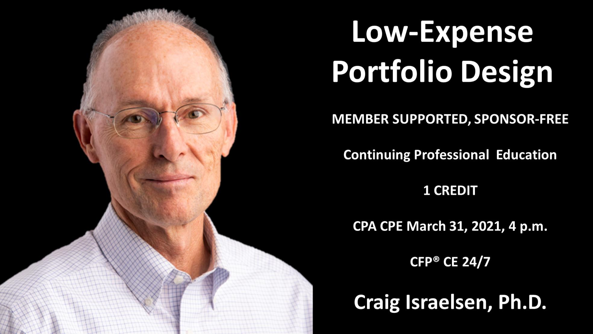 Craig Israelsen's March Webinar