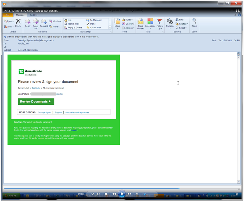 TD Ameritrade Demos How Its New Electronic Signature App For