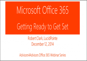 Feedback From Office 365 Session on Dec. 12th