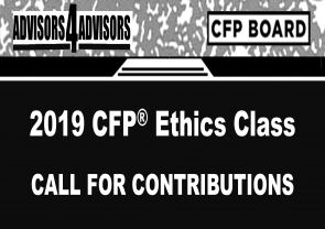 2019 CERTIFIED FINANCIAL PLANNER™ Ethics Course