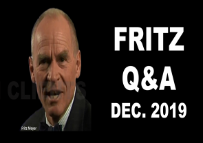 Financial Market Analysis, Fritz Meyer Q&A, December 2019